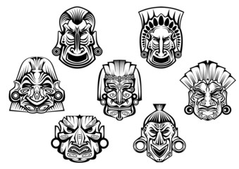 Ancient tribal religious masks