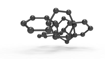 Kohlenstoffmoleküle verkettet aus CFK-Verbundwerkstoff