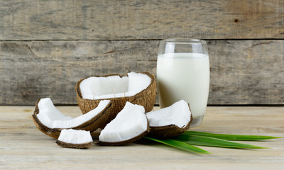 Coconut fruit and milk