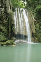 Erawan Waterfall in the deep forest