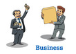 Cartoon happy businessmen characters