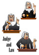 Cartoon judge characters - 70182420