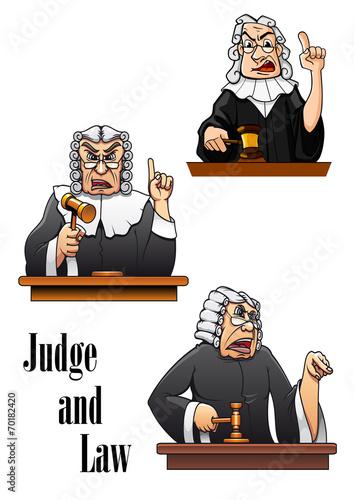 Cartoon judge characters - 70182420