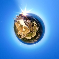 Abstract circular view of Pag island - Croatia
