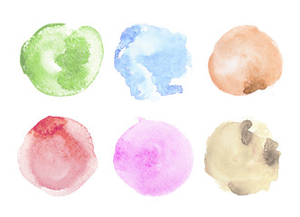 Abstract colorful watercolor aquarelle hand drawn art paint