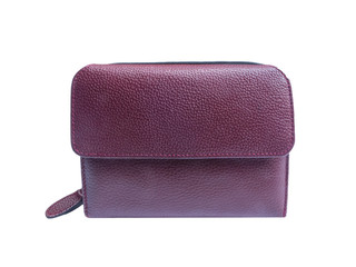 Dark red leather wallet