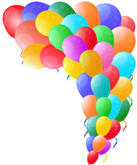 Color background with glossy balloon.