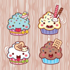 cartoon cupcake 25