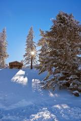 Mountains ski resort St. Gilgen Austria