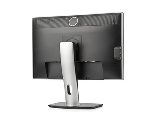 Computer monitor rear view