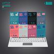 Infographic Laptop