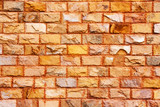 close up texture of orange brick wall