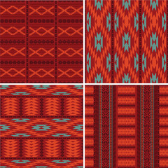 Set of abstract ethnic patterns