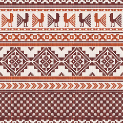 South american fabric ornamental pattern