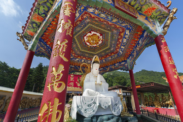 Buddha Statue in Ten Thousand Buddhas Monastery in Hong Kong