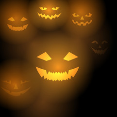 Pumpkins scary background