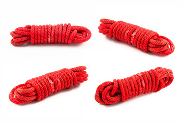 red rope isolated