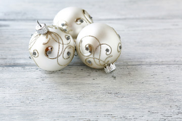Christmas balls in silver