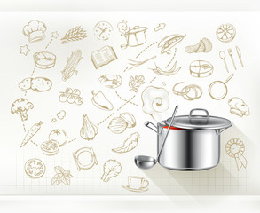 Cooking infographics, vector