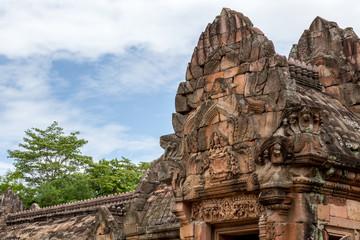 Pediment of Khmer ruin, Phanomrung