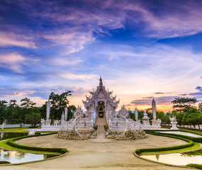 Art at Wat Rong Khun in Chiangrai province of Thailand