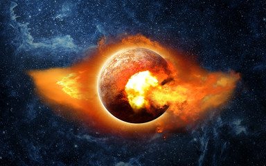 Planet X in space