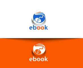 Symbol of ebook icons
