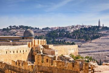 The Al-Aqsa Mosque and the Muslim minaret