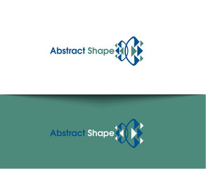 Abstract Shape web Icons and vector logo