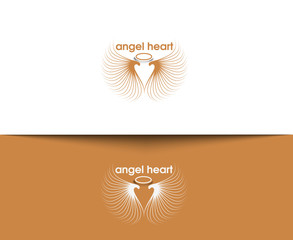 Angel Heart vector logo