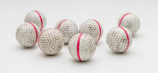 Old golf balls.