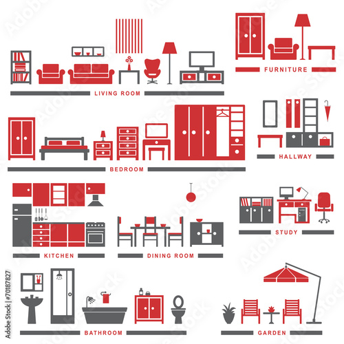 Home related icons 3 - 70187827