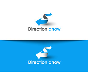 Direction arrow web Icons and vector logo