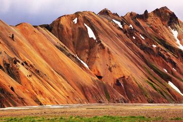 Smooth orange rhyolite mountains