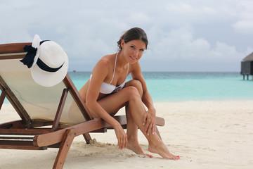 Katya on the beach