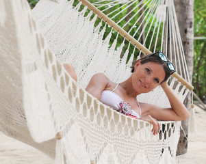 Katya in the hammock