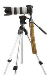 Slr camera on tripod