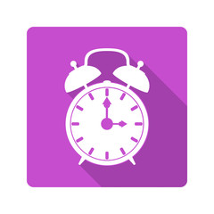 Flat design icon. alarm clock