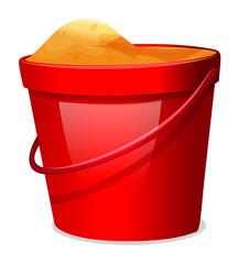 A red pail