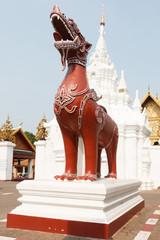 Thai lion statue