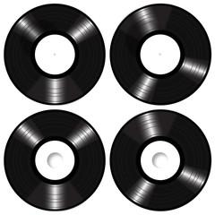 Lp Vinyl Records Mockup Vector