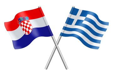Flags: Croatia and Greece