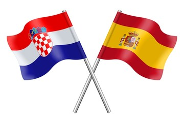 Flags: Croatia and Spain