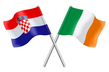 Flags: Croatia and Ireland