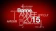 Bonne Année 2015 voeux nuage de mots animation