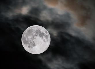 Closeup of full moon