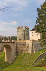 Chesky Shternberk castle (1241) in Czech Republic