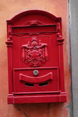 Cassette Postali, cassette delle lettere, rosso