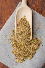 Dukkah, an Egyptian spice and nuts blend
