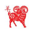 Goat 2015 Lunar symbol